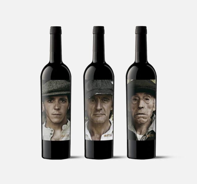 Matsu, ciekawe etykiety, etykiety na wino, wino hiszpańskie, zdjęcie na butelce