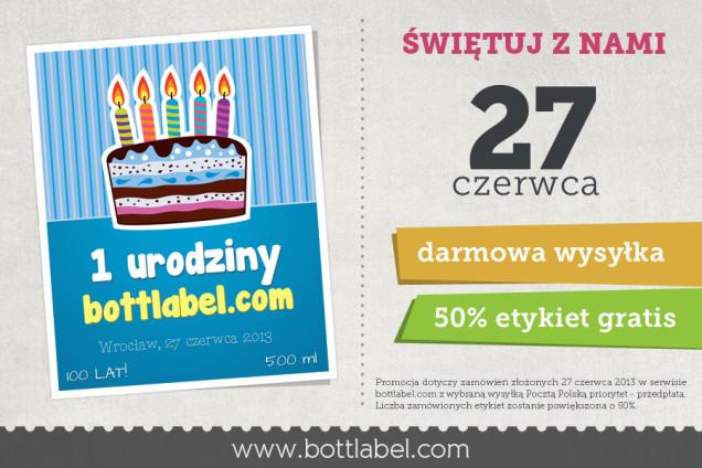 1 urodziny bottlabel.com