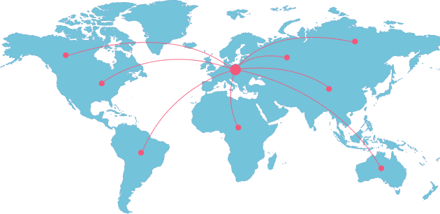 We ship all around the world